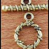 2 fermoirs toggle cordage en métal doré 15,4x11,9mm