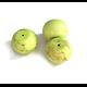 3 perles de pierre jaune/vert anis 16x13mm