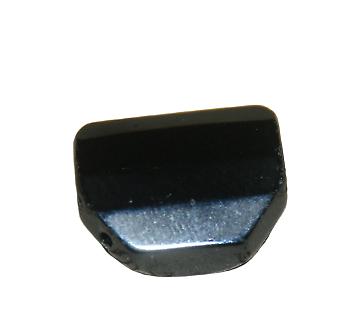 Palet octogonal d'onyx noir à facettes 19mm