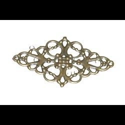 Estampe losange en métal couleur bronze 50x30mm