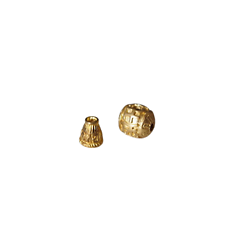 Kit de perles en laiton doré pour bracelet tibétain ou mala 11mm (modèle 2)