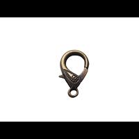 Grand fermoir mousqueton en métal couleur bronze 30x17mm