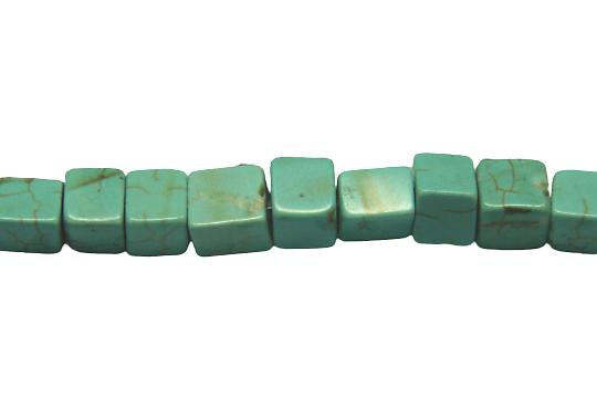 5 petits cubes de turquoise reconstituée 5x5mm