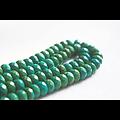 10 rondelles à facettes de turquoise verte 8x5mm