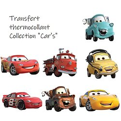 Transfert à chaud - thermocollant - Collection Car's