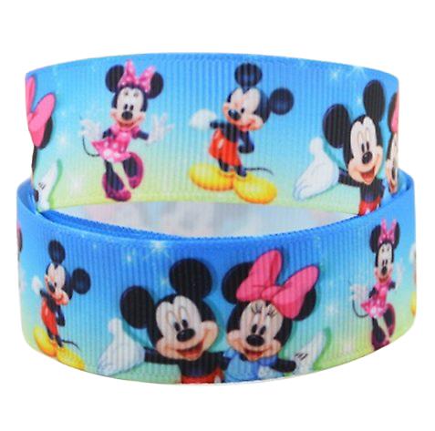 Ruban gros-grain Disney 22mm - Mickey / Minnie (3)
