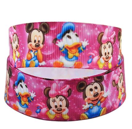 Ruban gros-grain Disney 22mm - Mickey / Minnie