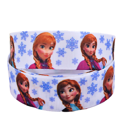 Ruban gros-grain Disney 22mm - Reine des Neiges