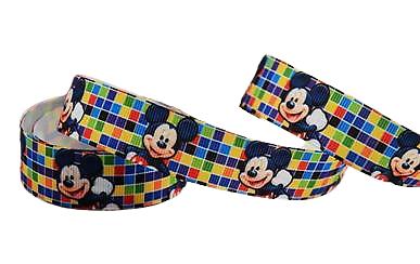 Ruban gros-grain Disney 22mm - Mickey (4)
