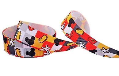 Ruban gros-grain Disney 22mm - Mickey (2)