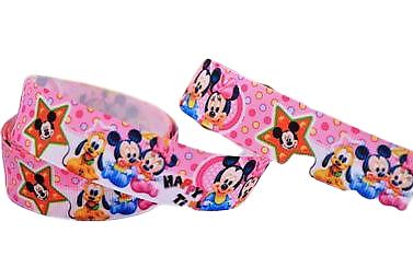 Ruban gros-grain Disney 22mm - Mickey / Minnie (4)