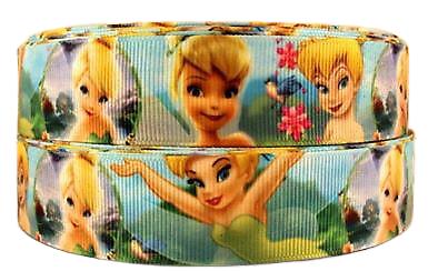 Ruban gros-grain Disney 25mm - Fée Clochette