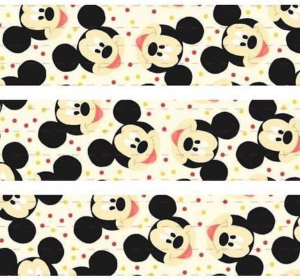 Ruban gros-grain Disney 25mm - Mickey