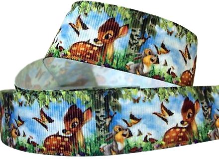 Ruban gros-grain Disney 25mm - Bambi