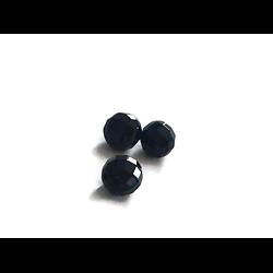 3 perles à facettes en onyx 10mm