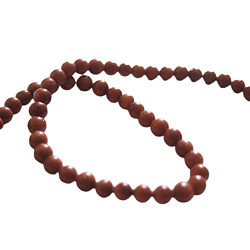 6 perles de pierre de sable scintillantes 6mm