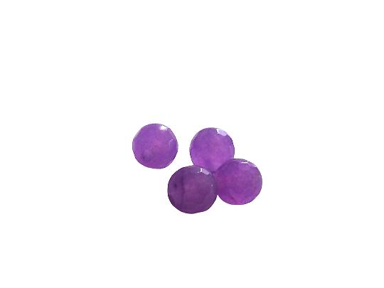 5 perles rondes à facettes en alexandrite mauve 6mm