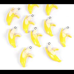 Breloque banane en résine 36x20mm