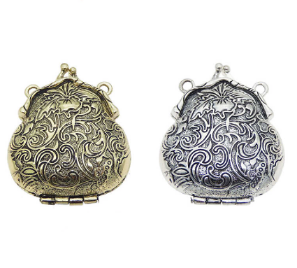 Pendentif porte-monnaie en métal 45x54mm