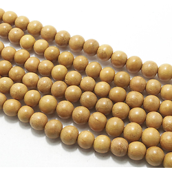 5 perles en bois de Nangka (jacquier) 10mm