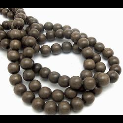 5 perles en bois de Graywood 10mm