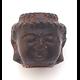 Perle tête de Bouddha en bois de senteur 12x13mm