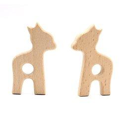 Anneau de dentition en bois naturel sans traitement chimique - faon