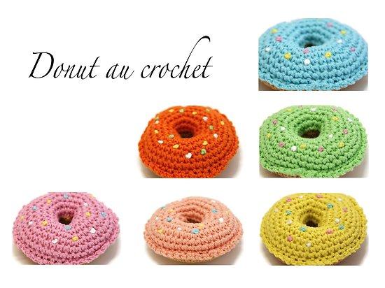 Donut au crochet 9cm