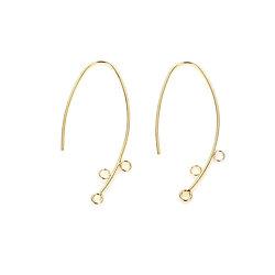 Crochets d'oreille à anneaux en métal doré 15x33mm