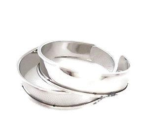 Support de bracelet en métal argenté 11mm