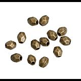 20 perles olive à facettes en métal couleur bronze 4mm