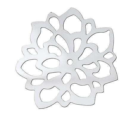Grande fleur en acier inoxydable 34mm