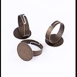 2 supports bague à plateau en métal couleur bronze réglables 18mm