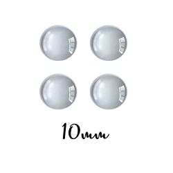 4 cabochons ronds ou dômes de verre 10mm