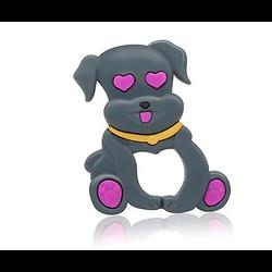 Anneau de dentition chien en silicone alimentaire sans BPA 82x66mm