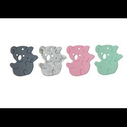 Anneau de dentition maman koala et son bébé en silicone alimentaire sans BPA 50x45mm