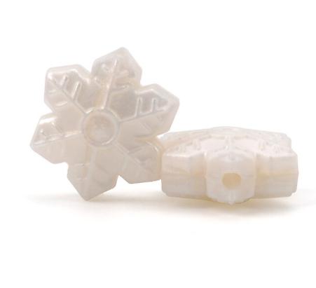 Perle flocon de neige en silicone alimentaire sans BPA 20x17mm