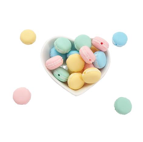 Perle macaron en silicone alimentaire sans BPA 20mm