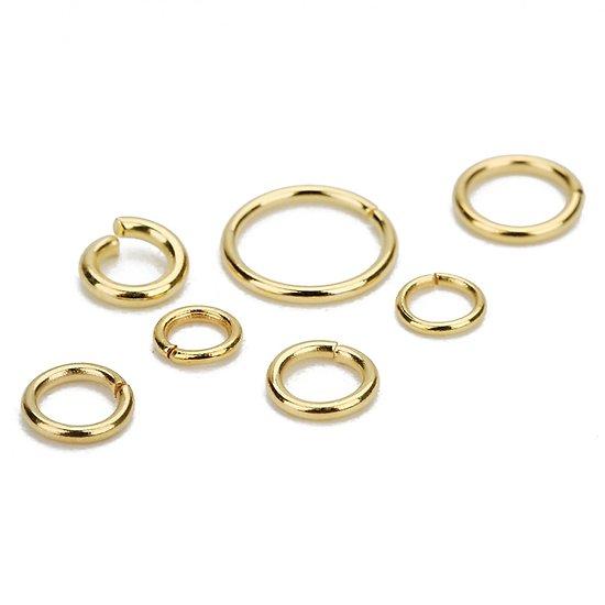 Anneaux en acier inoxydable doré 3/4/5/6mm