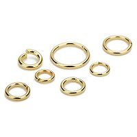 10 anneaux en acier inoxydable doré 3/4/5/6mm