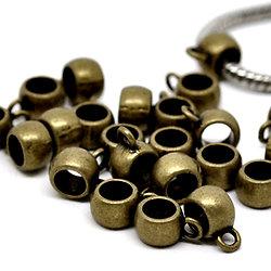 2 bélières en métal couleur bronze 11x5mm