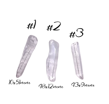 Cristal de roche 43/51x9/12mm