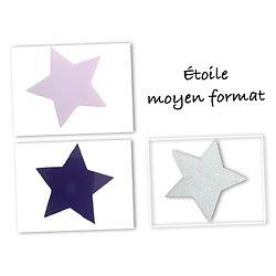 Flex thermocollant étoile MF- 3 couleurs