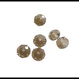 10 perles en cristal de Bohème à facettes champagne 6x8mm