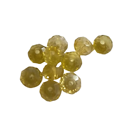 10 perles en cristal de Bohème à facettes jonquille 6x5mm