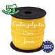 Fil / Cordon / Cordelette polyester pour attache-tétine 1,5mm - JAUNE