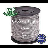 Fil / Cordon / Cordelette polyester pour attache-tétine 1,5mm - GRIS