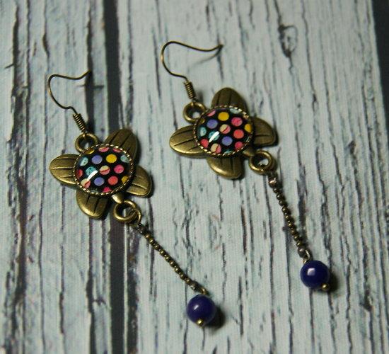 Boucles d'oreille Papillons à pois