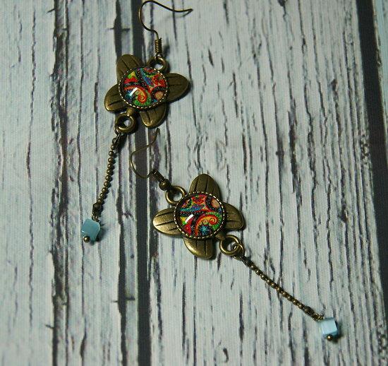 Boucles d'oreille Papillons indiens