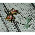 Boucles d'oreille Papillons et paisleys multicolores